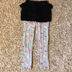 Circo leggings with attached skirt